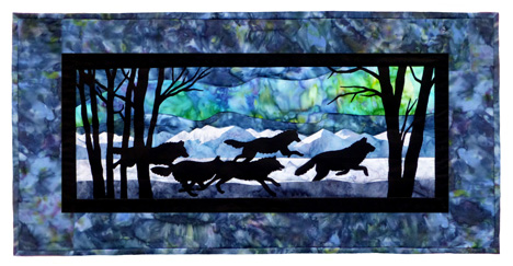 Aurora Nights: Thru the Forest Individual Wallhanging
