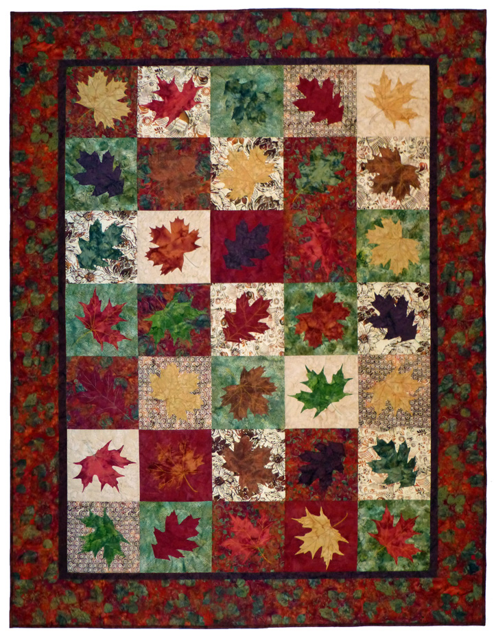 Quilt Template Leaves : Falling Leaves