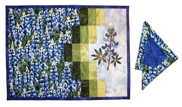 Field of Blue Placemats & Napkins