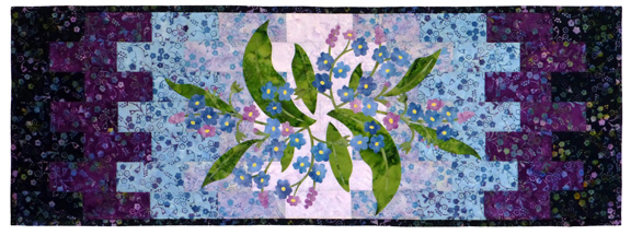 Forget Me Not Tablerunner