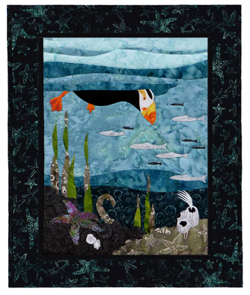 Maritime's Most Wanted: Tufted Puffin Individual Wallhanging