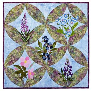 Northern Flora Five-Block Wallhanging
