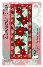 Poinsettia Too Pattern Cover in Red