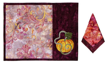 Pumpkin Patch Too Placemat and Napkin