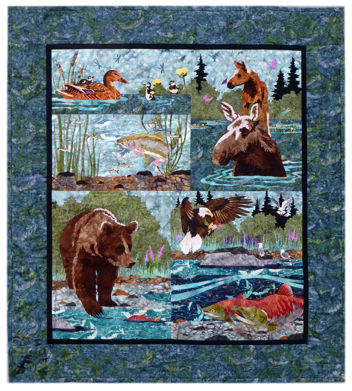 River Run 6-Block Complete Quilt