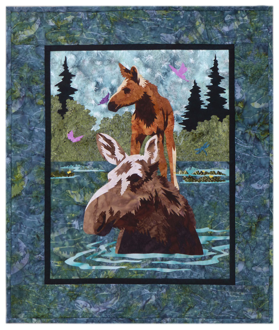 River Run: Crossing Individual Wallhanging