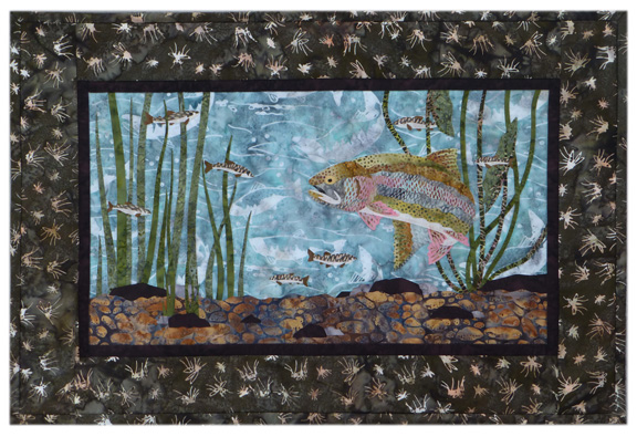 River Run: In the Shallows Individual Wallhanging